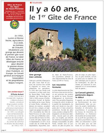Le magazine du Conseil Général